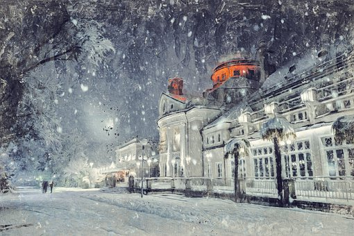 Building, Architecture, Snowing, Snowfall, Snow, Winter