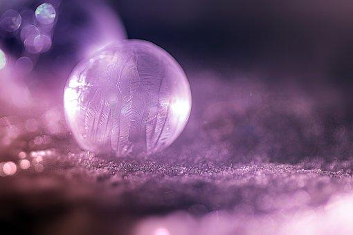 Soap Bubble, Frost, Ball, Reflection, Bokeh, Light