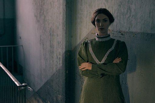 Woman, Dress, Braid, Model, Museum, Classic, Culture