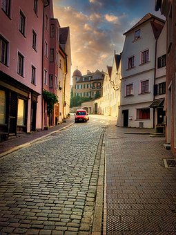Road, Alley, Building, Cobblestones, Houses