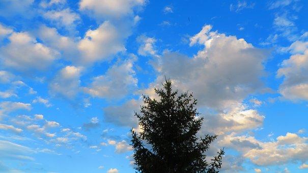 Sky, Clouds, Blue, Landscape, Mountains, Nature