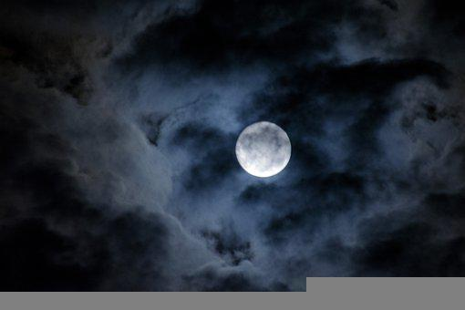 Moon, Clouds, Sky, Night, Dark, Night Sky, Dark Sky