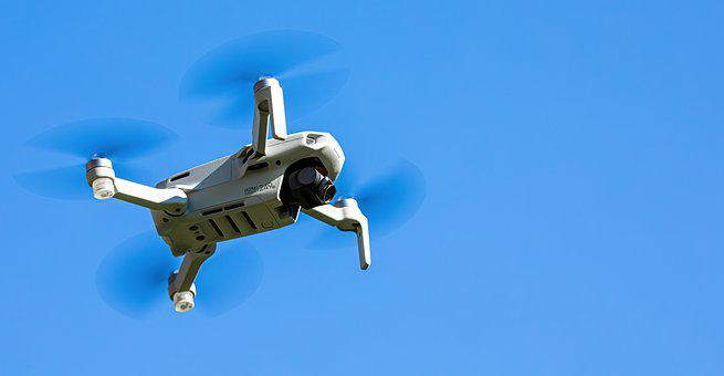 Dji, Mavic Mini 2, Drone, Flying, Camera, Device