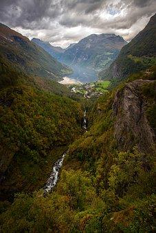 Geiranger, Norway, Fjord, Geirangerfjord, Landscape
