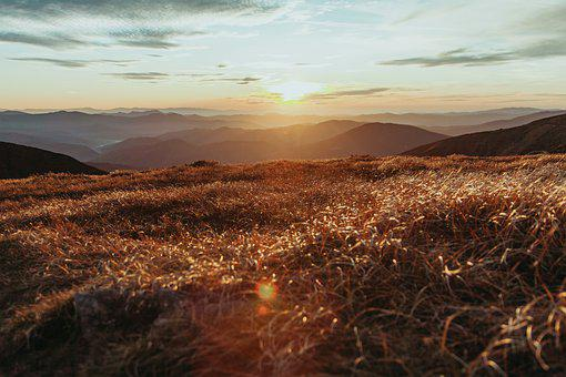 Mountains, Hills, Valley, Grass, Panorama, Outdoors