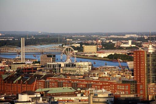 Hamburg, Hanseatic City, Germany, Architecture, Elbe