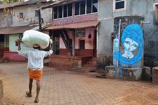 Man, India, Road, Hinduism, Kerala