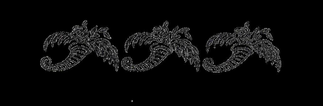Cornucopias, Luck, Black And White, Symbol, Retro