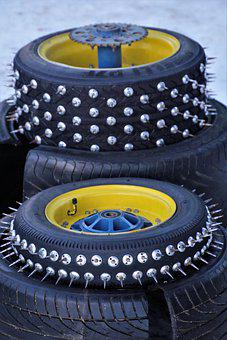 Spike, Spikes, Mature, Wheels, Nails, Motorsport, Kart