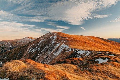 Mountains, Snow, Hills, Panorama, Outdoors, Adventure