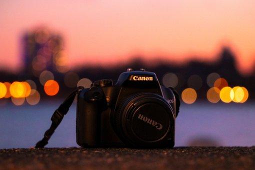 Camera, Canon, Sunset, Photography, Gear, Bokeh Lights