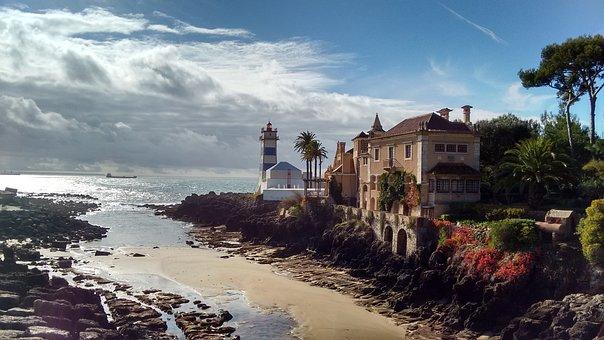 Cascais, Portugal, Sea, Atlantic, Coast, Water