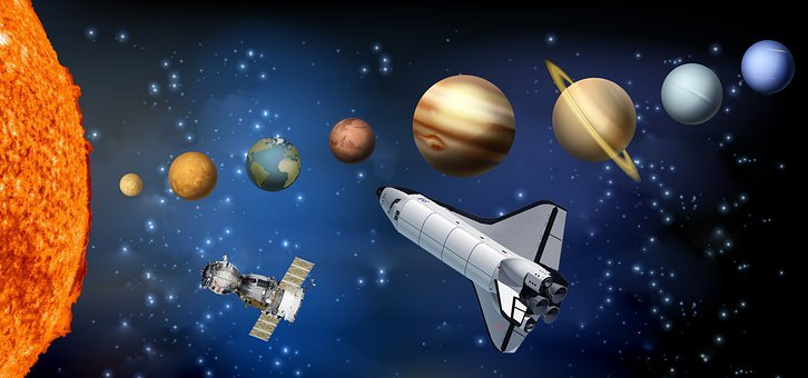 Space, Planets, Space Shuttle, Sattelite, Galaxy