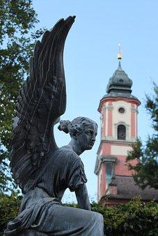 Angel, Statue, Figure, Sculpture, Stone Sculpture