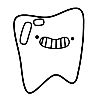 Tooth, Smile, Doodle, Sketch, Cartoon