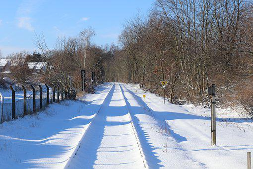 Winter, Railway, Snow, Snow Landscape