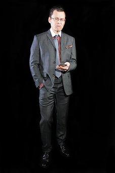 Manager, Man, Phone, Businessman, Suit, Tie, Irritated