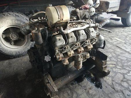 Engine, Machine, Car, Auto, Kamaz, Truck