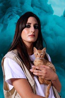 Woman, Kitten, Model, Fashion, Girl, Young, Makeup