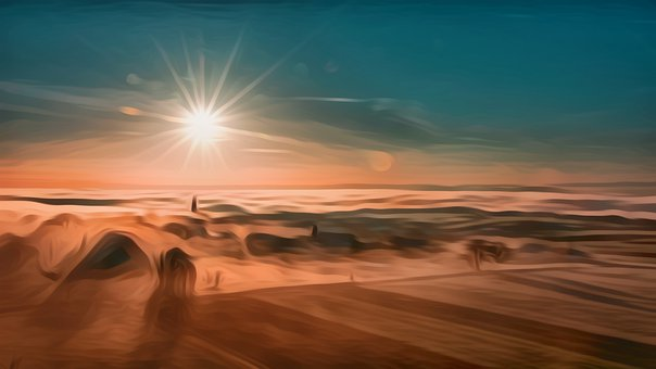 Nature, Design, Natural, Background, Sunrise, Abstract