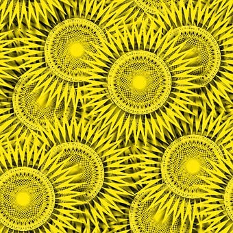Abstract, Sun, Pattern, Background, Wallpaper, Yellow
