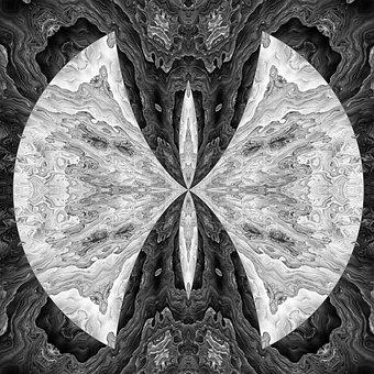 Black, White, Symmetry, Monochrome, Design