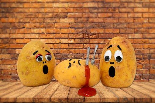Potatoes, Humor, Funny, Sad, Blood, Death, Background