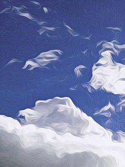 Background, Sky, Blue, Nature, Light, Cloud, Space