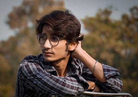 Boy, Glasses, Park, Eyeglasses, Fashion, Young, Man