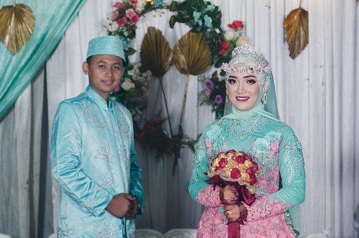 Couple, Wedding, Hijab, Bride, Groom, Rubiyanto
