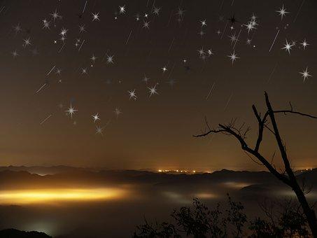 Dark, Star, Galaxy, Space, Sky, Cosmos, Night, Black