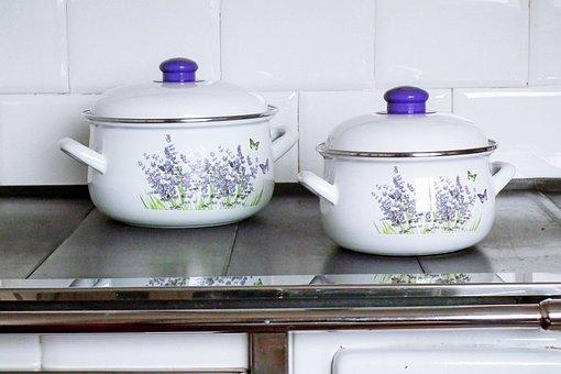 Pots, Cooking, Kitchen, Decorative, Lids, Cooking Pots