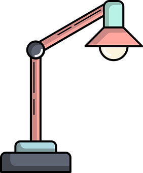 Adjustable, Bulb, Desk, Desk Lamp, Energy, Flat Design