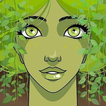 Woman, Dryad, Spring, Fantasy, Beauty, Beautiful