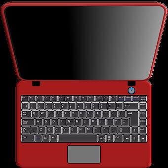 Computer, Notebook, Electronics, Gadget, Link, Red
