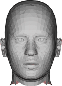 Man, Head, Face, Avatar, Low Poly, Geometric, Polygons