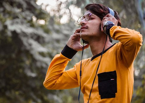 Boy, Music, Headphones, Sound, Audio