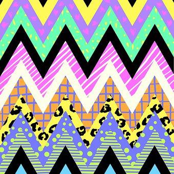 Zigzag, Fashion, Print, Funky, Minimal, Hipster, Hippy