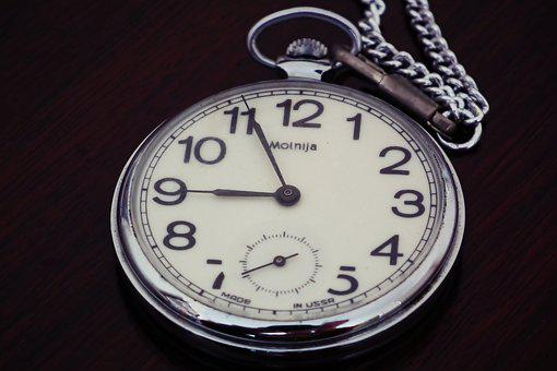 Pocket Watch, Time, Antique, Clock, Watch, Hours