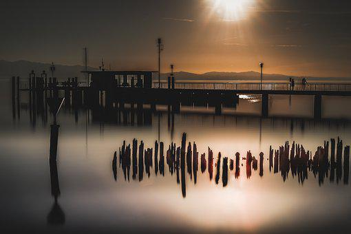 Silent, Lake, Landscape, Sky, Sunrise
