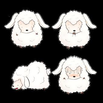 Sheep, Wool, Lamb, Drawing, Cartoon, Cute, Lovely