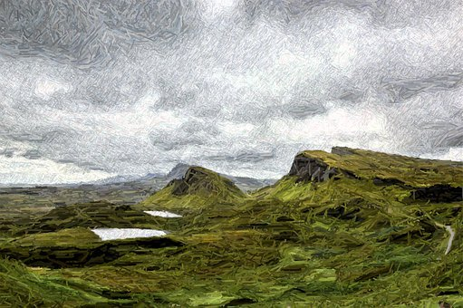 Landscape, Scotland, Highlands, Nature, Mountains