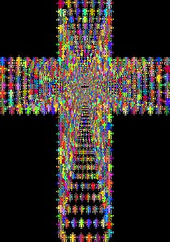 Cross, Jesus, Christ, Line Art, Divine, Faith, God