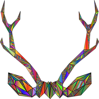 Deer, Antlers, Line Art, Animal, Buck, Nature, Abstract