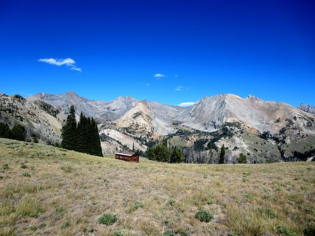 Pioneer Mountains, Cabin, Pine Trees, Sun Valley, Idaho