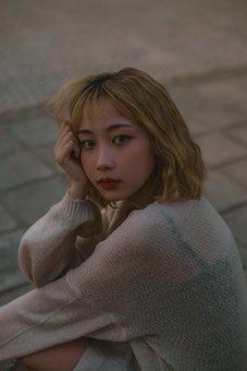 Girl, Sad, Portrait, Face, Female, Young, Person