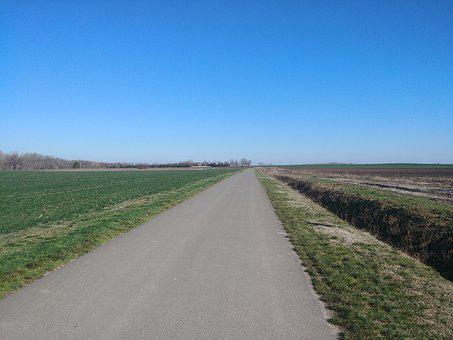 Landscape, Scape, Horizon, Border, Field, Plains, Road