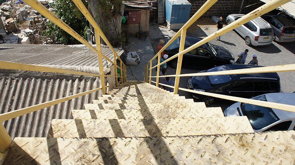 Stairs, Outdoors, Urban, Roof, Steps, Staircase