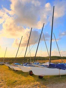 Sailing Boats, Beach, Sail, Sea, Vacations, Ocean