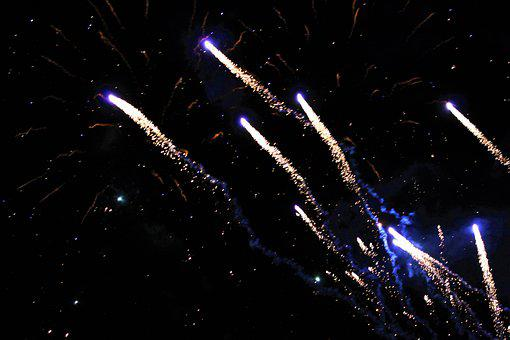 Salute, Fireworks, Pyrotechnics, Colorful, Abstract